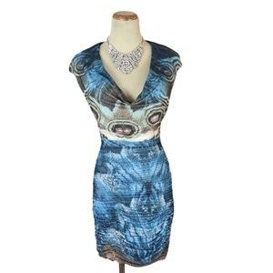 NWT Jovani Genuine Multi Ruch-Skirt Evening Dress